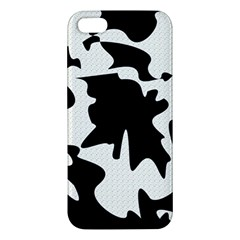 Black And White Elegant Design Apple Iphone 5 Premium Hardshell Case by Valentinaart