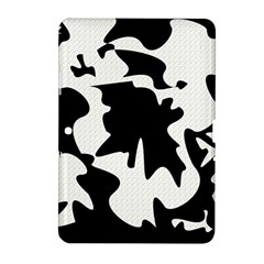 Black And White Elegant Design Samsung Galaxy Tab 2 (10 1 ) P5100 Hardshell Case  by Valentinaart