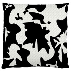 Black And White Elegant Design Large Flano Cushion Case (one Side) by Valentinaart