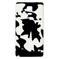 Black And White Elegant Design Galaxy Note 4 Back Case by Valentinaart