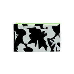 Black And White Elegant Design Cosmetic Bag (xs) by Valentinaart