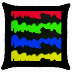Colorful Abstraction Throw Pillow Case (black) by Valentinaart