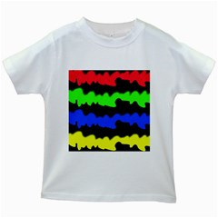 Colorful Abstraction Kids White T-shirts by Valentinaart