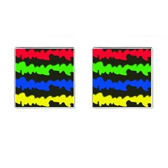 Colorful Abstraction Cufflinks (square) by Valentinaart