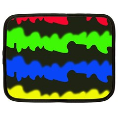 Colorful Abstraction Netbook Case (large) by Valentinaart