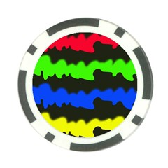 Colorful Abstraction Poker Chip Card Guards (10 Pack)  by Valentinaart