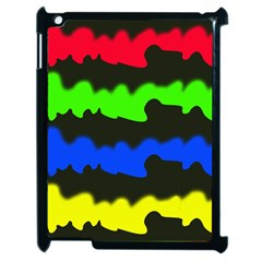 Colorful Abstraction Apple Ipad 2 Case (black) by Valentinaart