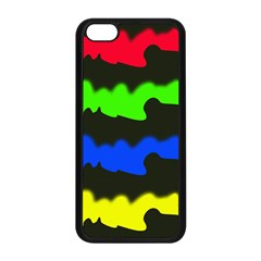 Colorful Abstraction Apple Iphone 5c Seamless Case (black) by Valentinaart