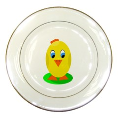 Cute Chicken  Porcelain Plates by Valentinaart