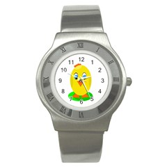 Cute Chicken  Stainless Steel Watch by Valentinaart