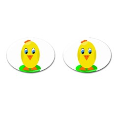 Cute Chicken  Cufflinks (oval) by Valentinaart