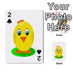 Cute Chicken  Playing Cards 54 Designs  by Valentinaart