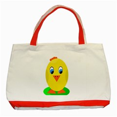 Cute Chicken  Classic Tote Bag (red) by Valentinaart
