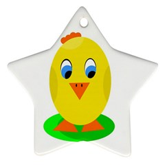 Cute Chicken  Star Ornament (two Sides)  by Valentinaart