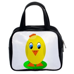 Cute Chicken  Classic Handbags (2 Sides) by Valentinaart