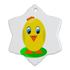 Cute Chicken  Ornament (snowflake)  by Valentinaart