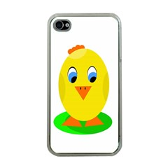 Cute Chicken  Apple Iphone 4 Case (clear) by Valentinaart
