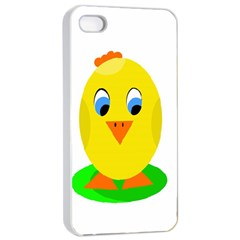 Cute Chicken  Apple Iphone 4/4s Seamless Case (white) by Valentinaart