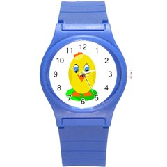 Cute Chicken  Round Plastic Sport Watch (s) by Valentinaart