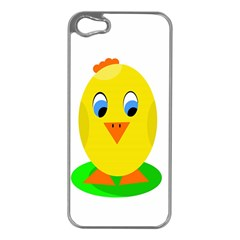 Cute Chicken  Apple Iphone 5 Case (silver)