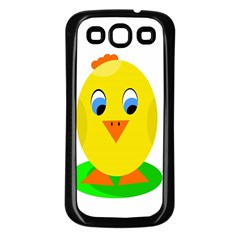 Cute Chicken  Samsung Galaxy S3 Back Case (black) by Valentinaart
