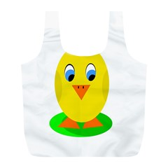 Cute Chicken  Full Print Recycle Bags (l)  by Valentinaart