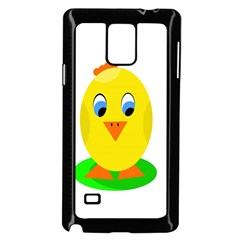 Cute Chicken  Samsung Galaxy Note 4 Case (black) by Valentinaart