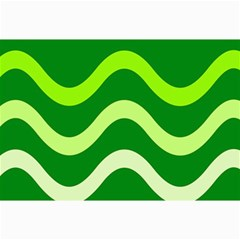 Green Waves Collage Prints by Valentinaart