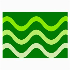 Green Waves Large Glasses Cloth (2 Side) by Valentinaart