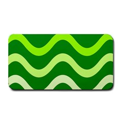 Green Waves Medium Bar Mats by Valentinaart