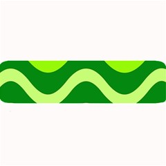 Green Waves Large Bar Mats by Valentinaart
