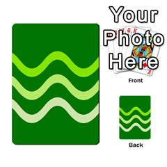 Green Waves Multi Purpose Cards (rectangle)  by Valentinaart