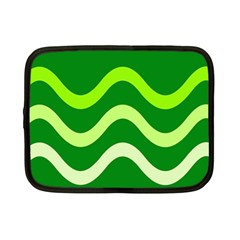 Green Waves Netbook Case (small)  by Valentinaart