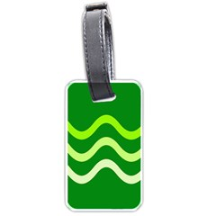 Green Waves Luggage Tags (two Sides) by Valentinaart