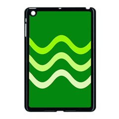 Green Waves Apple Ipad Mini Case (black) by Valentinaart