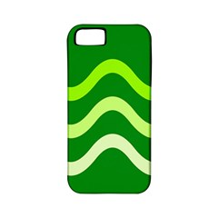 Green Waves Apple Iphone 5 Classic Hardshell Case (pc+silicone) by Valentinaart