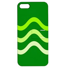 Green Waves Apple Iphone 5 Hardshell Case With Stand by Valentinaart