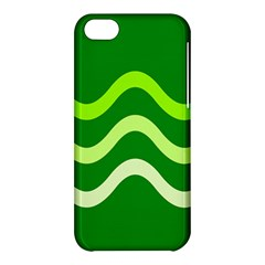 Green Waves Apple Iphone 5c Hardshell Case by Valentinaart