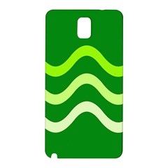 Green Waves Samsung Galaxy Note 3 N9005 Hardshell Back Case by Valentinaart