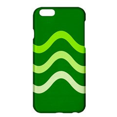 Green Waves Apple Iphone 6 Plus/6s Plus Hardshell Case by Valentinaart