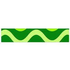 Green Waves Flano Scarf (small) by Valentinaart