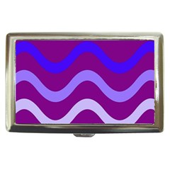 Purple Waves Cigarette Money Cases by Valentinaart