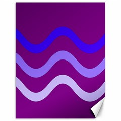 Purple Waves Canvas 12  X 16   by Valentinaart