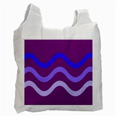 Purple Waves Recycle Bag (two Side)  by Valentinaart