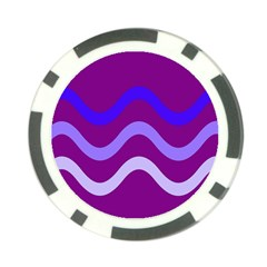 Purple Waves Poker Chip Card Guards (10 Pack)  by Valentinaart