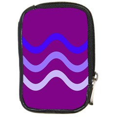 Purple Waves Compact Camera Cases by Valentinaart