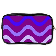 Purple Waves Toiletries Bags by Valentinaart