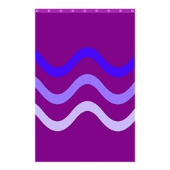 Purple Waves Shower Curtain 48  X 72  (small)  by Valentinaart