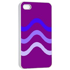 Purple Waves Apple Iphone 4/4s Seamless Case (white) by Valentinaart