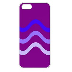 Purple Waves Apple Iphone 5 Seamless Case (white) by Valentinaart